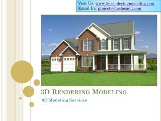 3D Rendering Modeling providers high-end 3D Modeling Service
