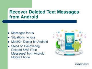 Recover Deleted Text Messages from Android