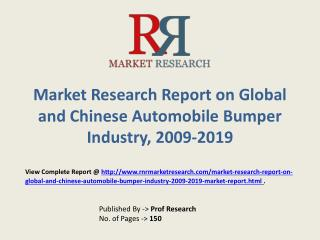 Automobile Bumper   Market Global & Chinese (Value, Cost or