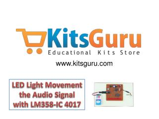 LED Light Movement the Audio Signal with LM358-IC 4017 Proje