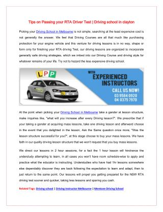 Raj Safe Driving School | Driving Instructor Melbourne