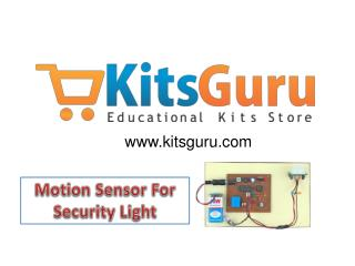 Motion Sensor For Security Light Projects
