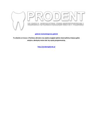 gabinet stomatologiczny gdańsk