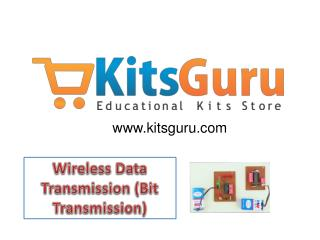 Wireless Data Transmission (Bit Transmission) Projects