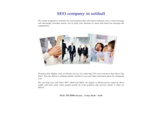 SEO company in solihull
