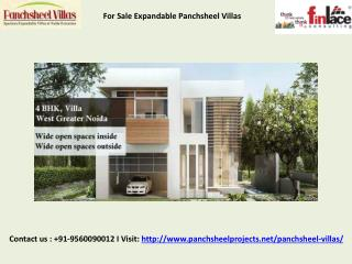 Panchsheel Villas at greater Noida | 9560090012