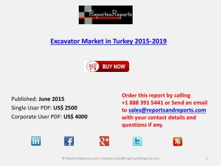 Turkey Excavator Market Analysis and Forecasts Report 2019