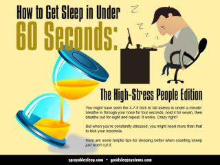 How to Get Sleep in Under 60 Seconds: The High-Stress People