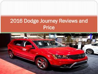 2016 Dodge Journey Reviews and Price
