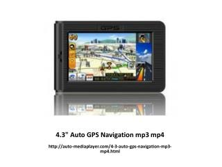"4.3"" Auto GPS Navigation mp3 mp4"