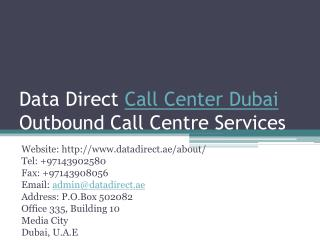 Call Center Dubai