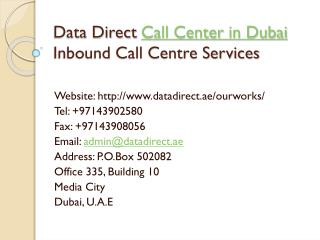 Call Center in Dubai