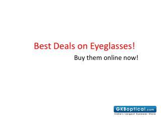 Best Deals on Eyeglasses
