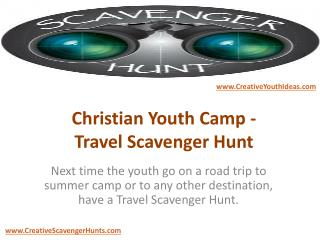 Christian Youth Camp - Travel Scavenger Hunt