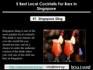 5 Best local cocktails for bars in Singapore