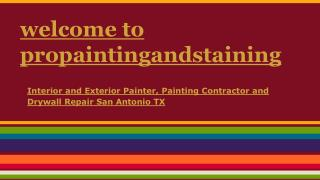 Interior and Exterior Painter, Painting Contractor and Drywa