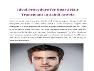 Beard Hair Transplant Saudi Arabia