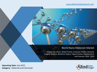World Nano Materials Market Size, Trends, Analysis,2014-2020