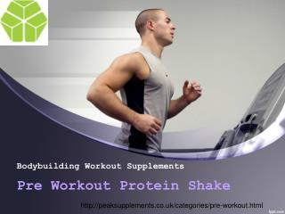 Pre Workout Protein Shake