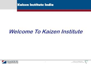 Case Study of Kaizen Implementation for Insurance Company
