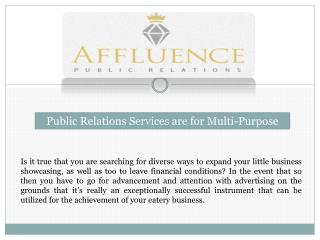Public Relations Services are for Multi-Purpose