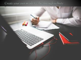 Create your own market value through website