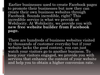Build free website from facebook page