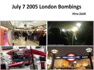 7-7 London Attacks