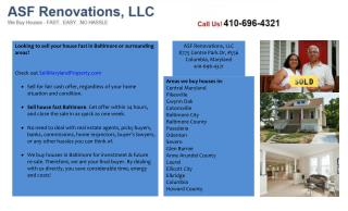 Sell House Fast Baltimore