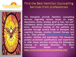 Find the Best Hamilton Councelling Services from professiona