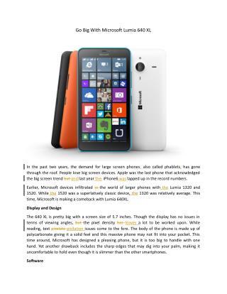 Go Big With Microsoft Lumia 640 XL