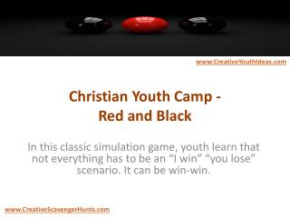 Christian Youth Camp - Red and Black