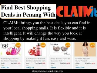 Best shopping deals in Penang