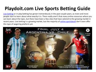 Playdoit.com Live Sports Betting Guide