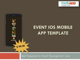 Most Attractive Event iOS Mobile Apps Template - only at $99