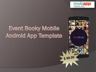 An Event Booky Android Mobile Apps Template - Only at $99!