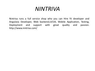 Angularjs Development Company - Nintriva