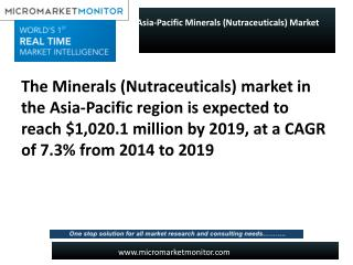 Asia-Pacific Minerals (Nutraceuticals) Market