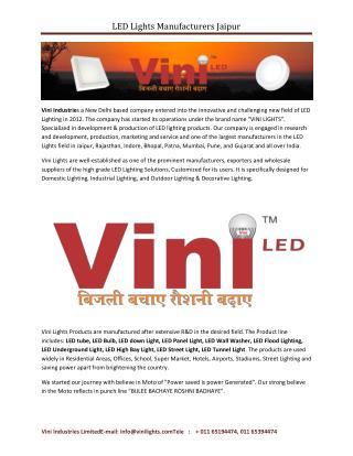 LED Lights Manufacturers Jaipur