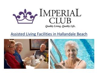 Assisted Living Facilities in Hallandale Beach