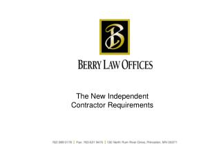 The New Independent Contractor Requirements