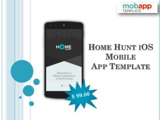 Home Hunt iOS Mobile App Template for Real Estate App at $99