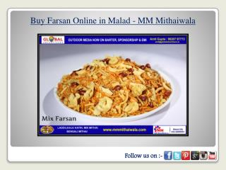 Buy Farsan Online in Malad - MM Mithaiwala