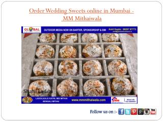 Order Wedding Sweets online in Mumbai- MM Mithaiwala