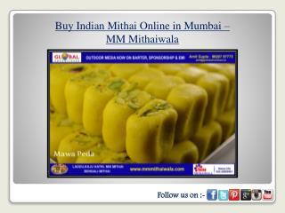 Buy Indian Mithai Online in Mumbai - MM Mithaiwala