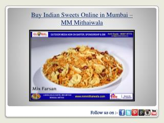 Buy Indian Sweets Online in Mumbai - MM Mithaiwala