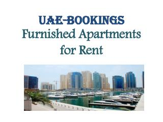 Short Term Apartment for rent in Dubai