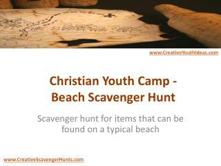 Christian Youth Camp - Beach Scavenger Hunt