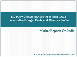 EID Parry Limited (EIDPARRY) in India  2015 - Alternative En