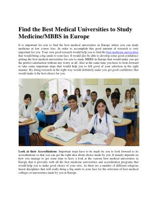 Top Medical Universities for MBBS in Ukraine